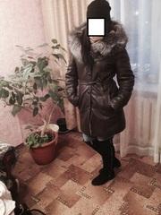 Зимняя дубленка из кожи