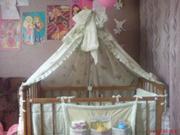 Продам детскую кроватку в хорошем состоянии(цвет орех)